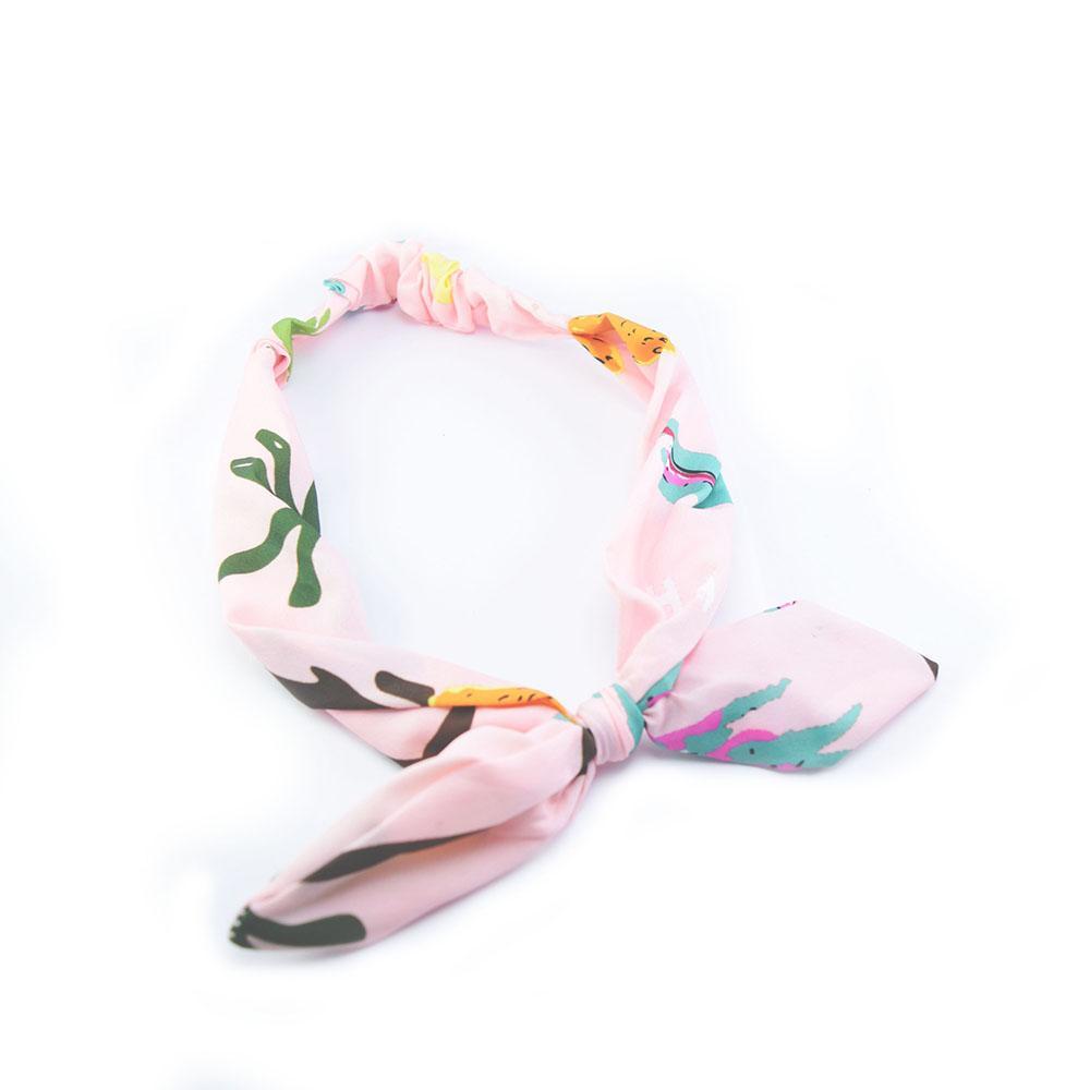 Đẹp Accessories - Băng Đô Turban Vải Hàn Quốc Màu Hồng Phối Màu