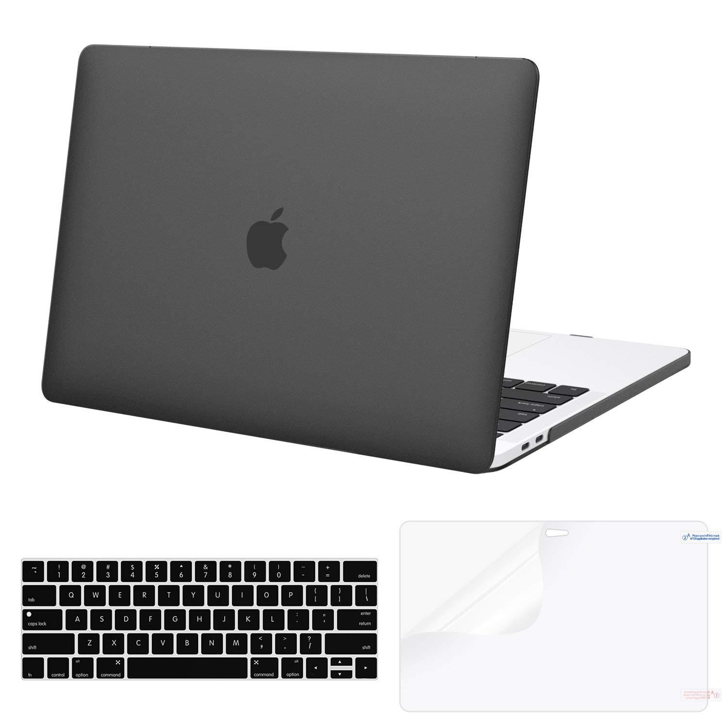 MacBook Pro 13 Case 2018 2017 2016 Release A1989/A1706/A1708, Plastic Hard Shell & Keyboard Cover & Screen Protector & Mac Pro 13 Inch