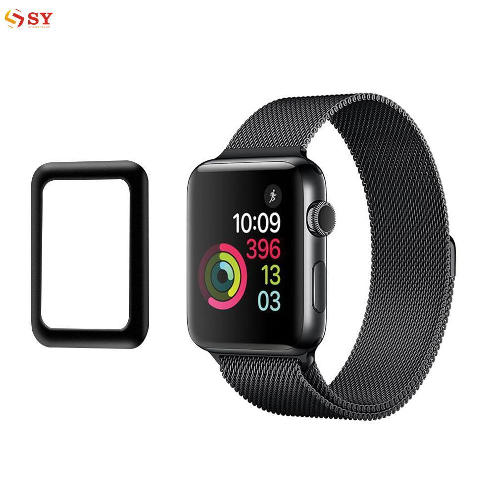 So Young Screen Protector Screen Glass Film Hard Frame Bumper Case Full Cover for 42mm Apple Watch Series 3