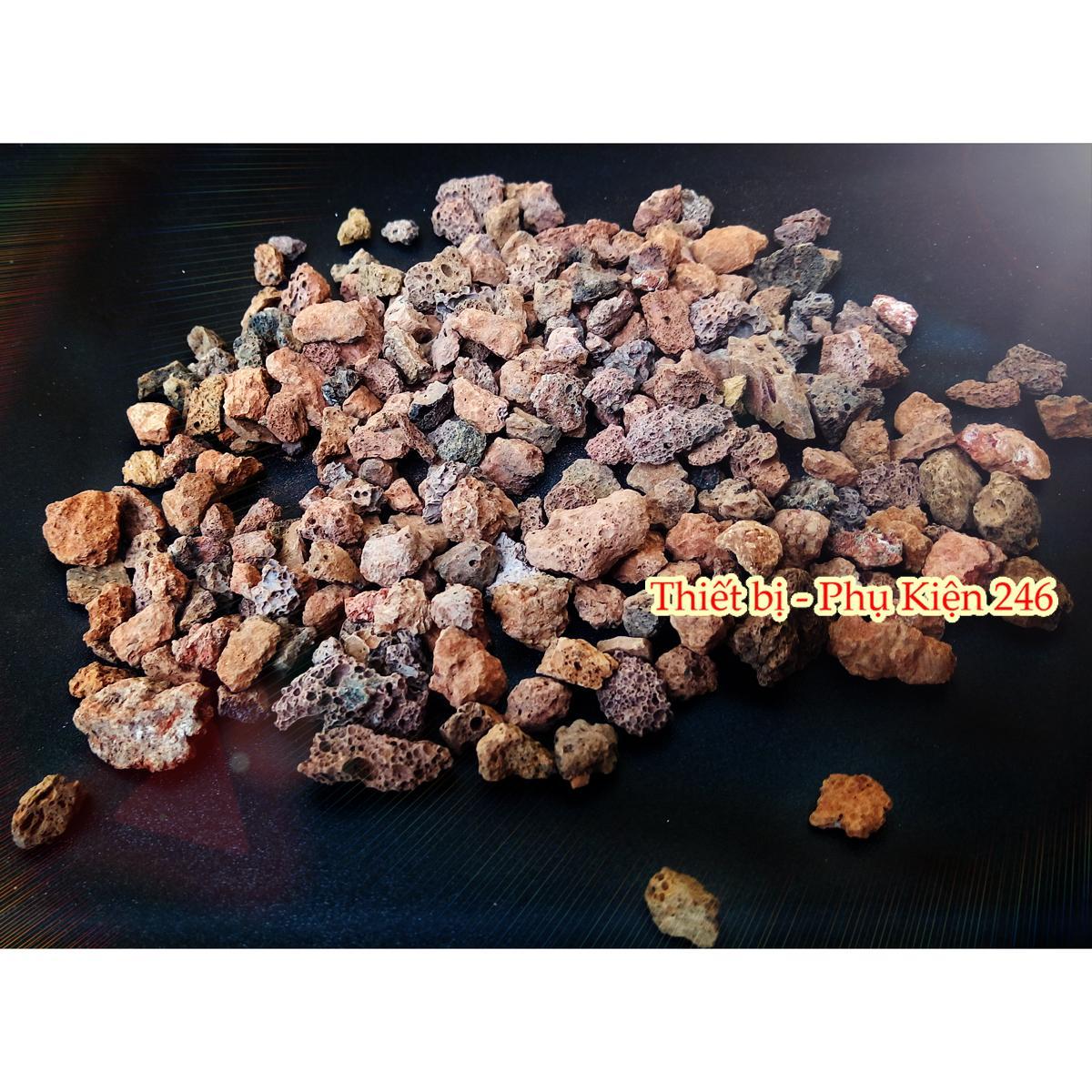Đá nham thạch Nhỏ scoria stone vật liệu lọc, trang trí bể cá 1.000 gram