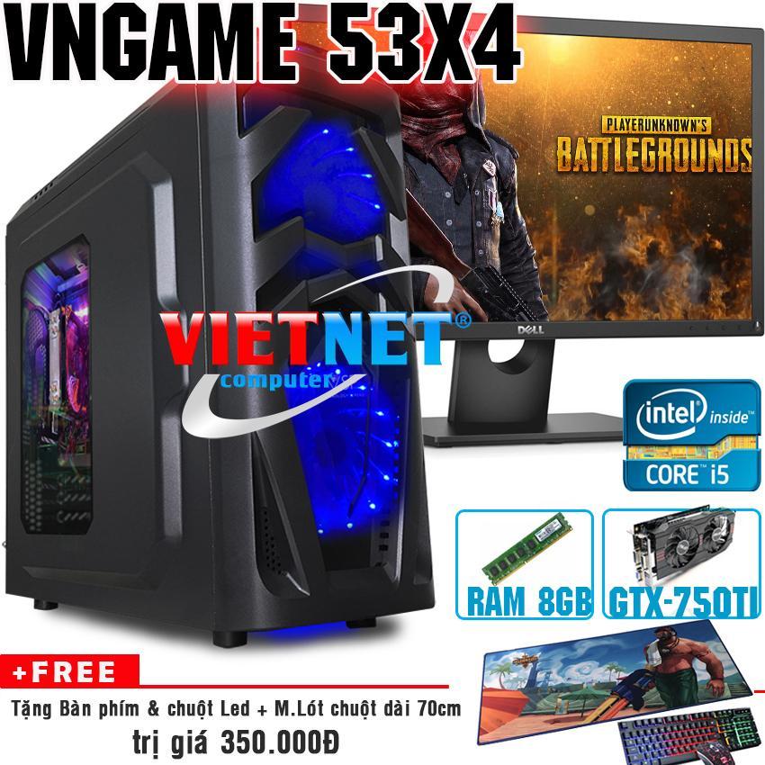 Máy tính chiến game VNgame 53X4 i5 3470 GTX750Ti 8GB 500GB + Dell 22inch