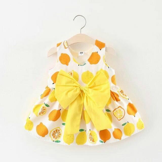 SỈ = LẺ váy bé gái nơ hình trái cam- made in Vietnam
