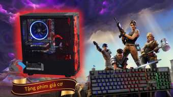 máy tính game i5 4570, card gtx 1060 3g, ddr3 8g ram, ssd 120gb, case fan led như hình, tặng kèm phím giả cơ