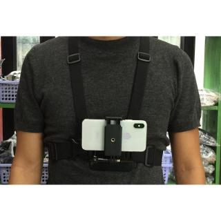 Dây áo giữ ĐT trước ngực dùng làm camera Tặng kèm 1 khăn đa năng Phượt thumbnail