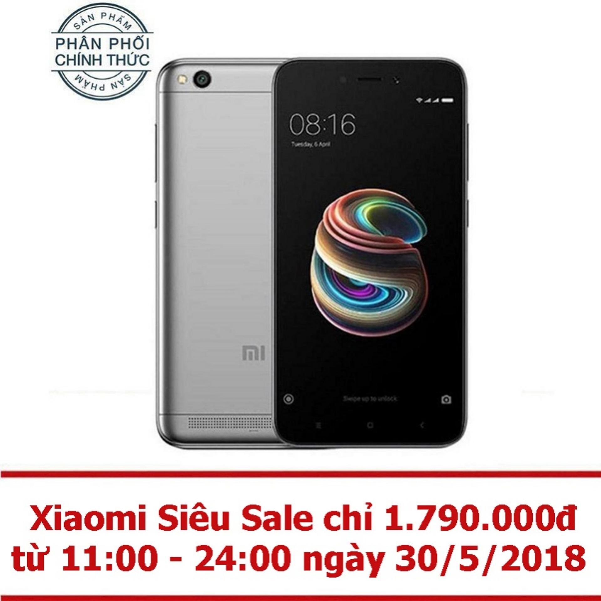 Xiaomi Redmi 5A 16GB Ram 2GB (Xám) - Hãng phân...