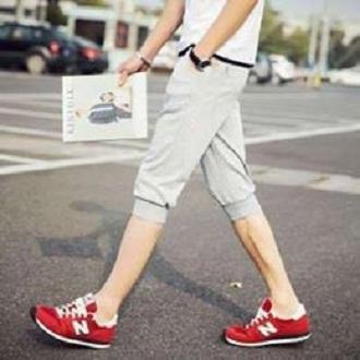 Quần short thun nam bo ống thời trang phong cách Hàn Quốc ( xám )