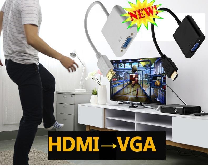 bo chuyen doi tu vga sang hdmi, bộ chuyển đổi HDMI sang VGA (dây xịn) thiết bị quan trọng kết nối máy tính, máy chiếu, dàn hát karaoke, tivi, đầu thu …mã sp 008