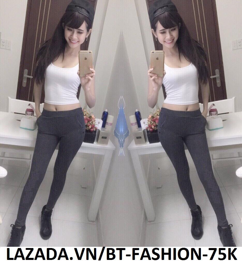 Quần Dài Nữ Thun Ôm Legging Thể Thao Thời Trang Hàn Quốc - BT Fashion (Trơn-02)