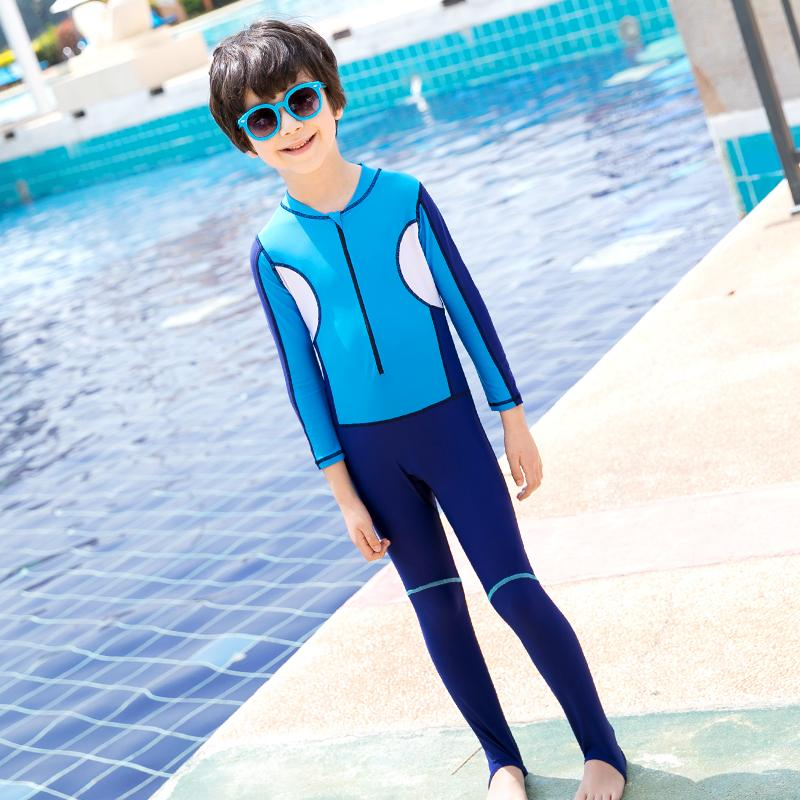 Youyou Children Joined Bodies Big Boy Baby Bathing Suit Sun-resistant Long Sleeve Jellyfish Wetsuit Snorkeling Equipment