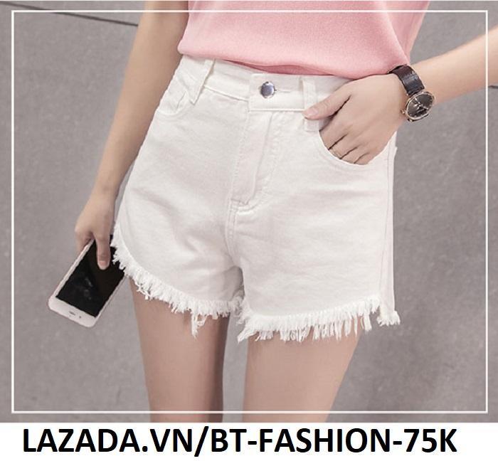 Quần Sọt Đùi (Short) Kaki Lưng Cao Thời Trang Hàn Quốc  - BT Fashion  SO002