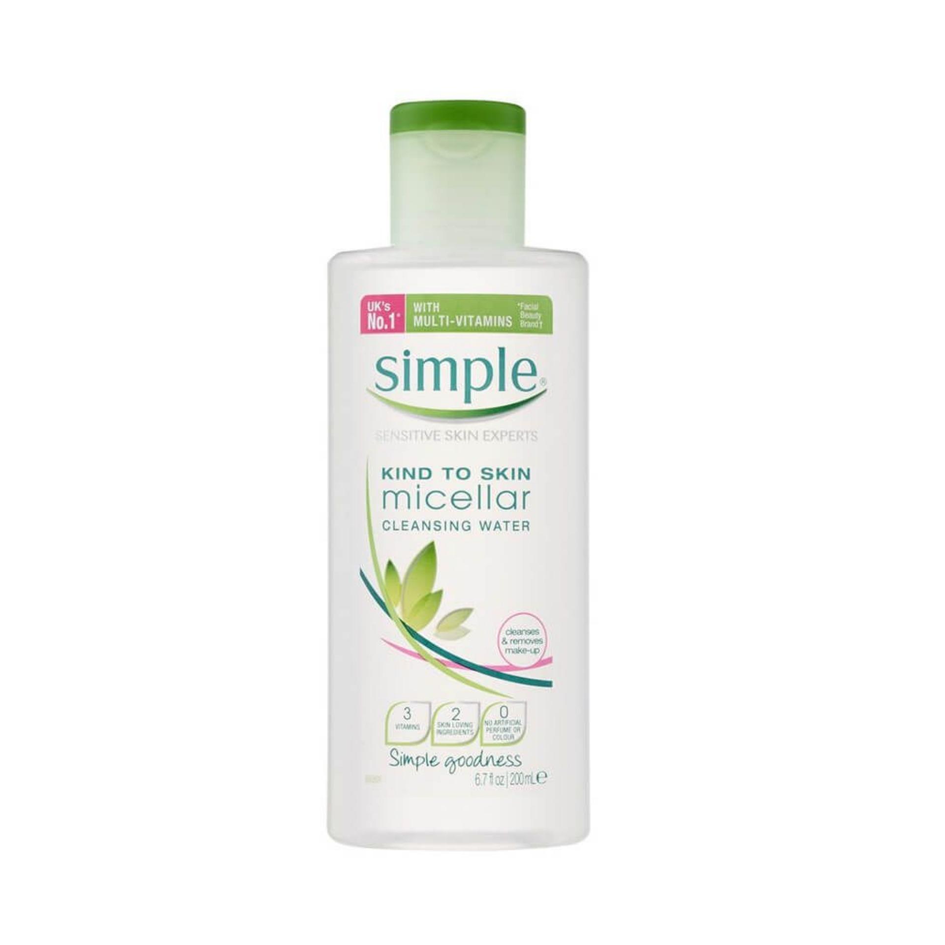 Nước tẩy trang dịu nhẹ Simple Kind To Skin Cleansing Micellar Water 200ml