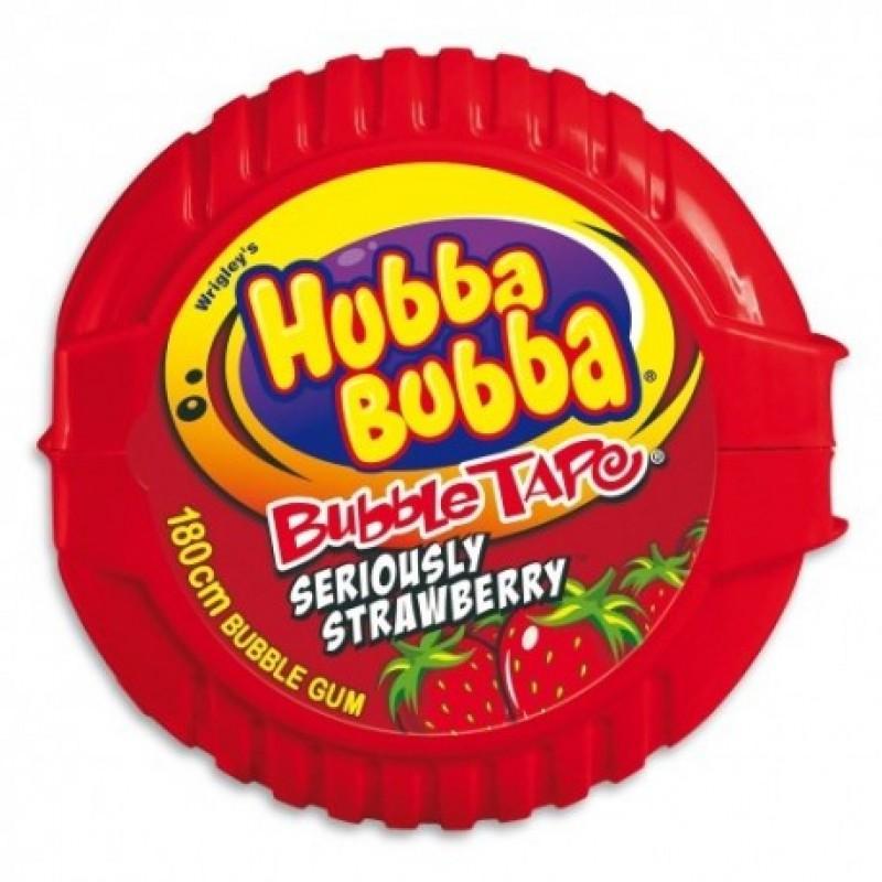 Kẹo gum cuộn Hubba Bubba DÀI 180cm  vị dâu màu đỏ