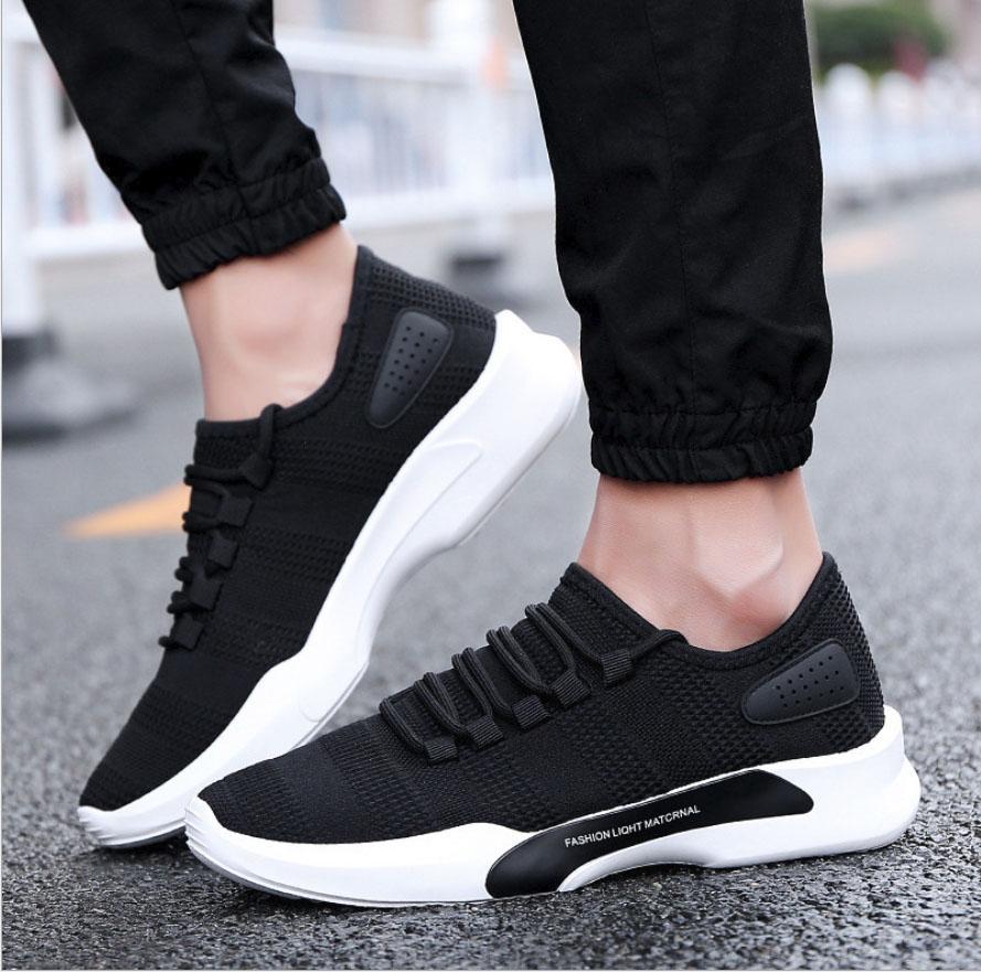 Giày sneaker vải nam đen thời trang MATERIAL