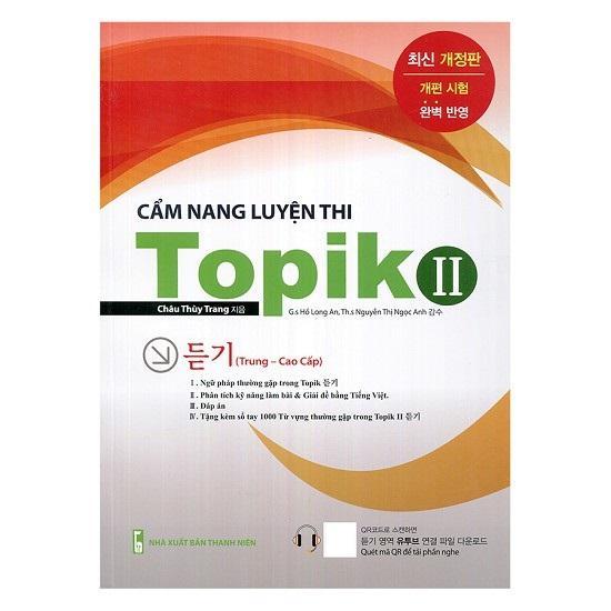 Sách Cẩm Nang Luyện Thi TOPIK II (Luyện nghe) (Bản không màu) (Kèm CD)