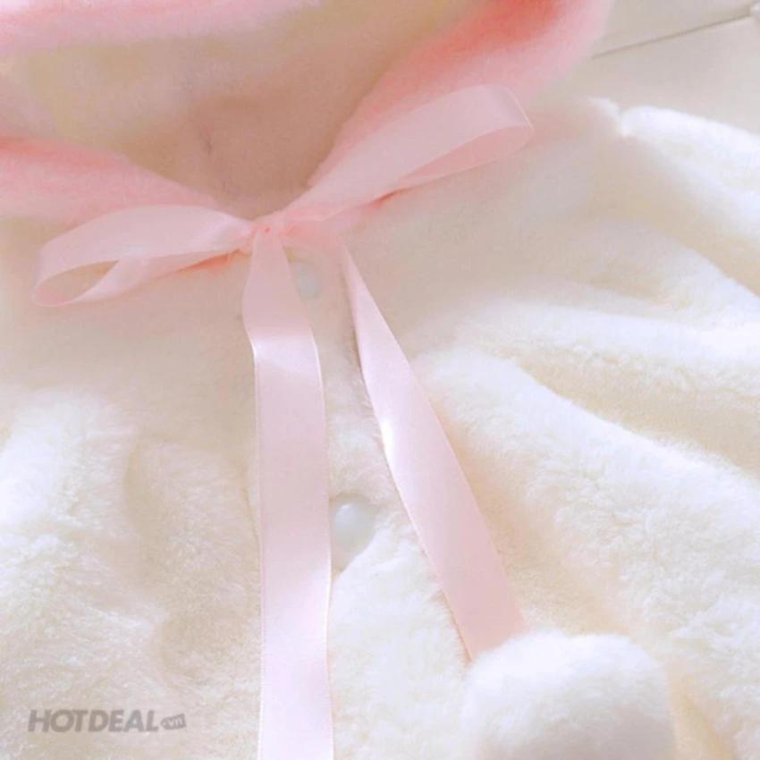Áo Khoác Tai Thỏ , áo khoác thời trang Cho Bé Gái + Tặng thẻ tích điểm nhận quà.