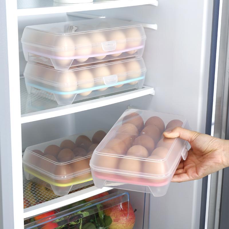 Khay đựng trứng trong tủ lạnh 15 ngăn giá rẻ (Màu ngẫu nhiên)