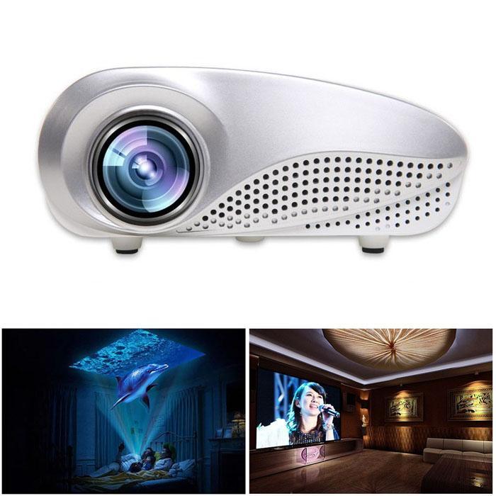 JY Mini Gia Đình Đa Phương Tiện Điện Ảnh Máy Chiếu LED HD Hỗ Trợ AV TV VGA USB HDMI SD