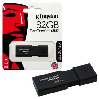 USB Kingston 32G USB 3.0 - DT100 G3 - Nắp Trượt Hiện Đại - Bền Bỉ - Tốc Độ Cao - Tương Tích 2.0 và 3.0 - vpmax thumbnail