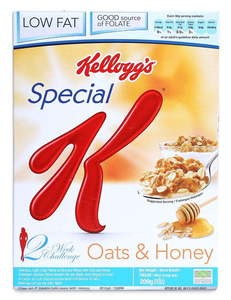 Ngũ Cốc Ăn Kiêng Kellogg's Special K Oats & Honey Hộp 209G