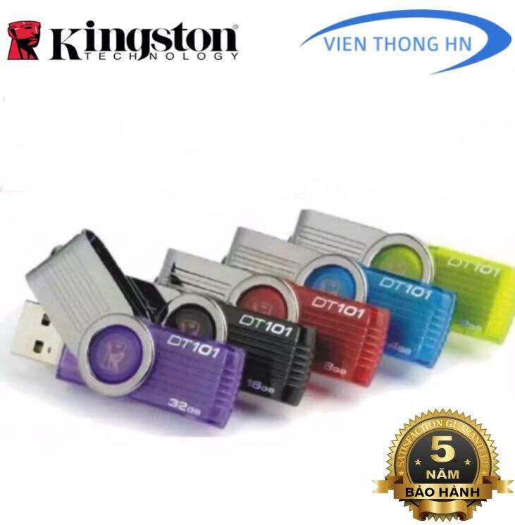 USB 2.0 Kingston 4GB 8GB 16GB 32GB DT101 G2 - CÓ NTFS - CAM KẾT BH 5 NĂM 1 ĐỔI 1