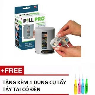 Hộp đựng thuốc thông minh đa năng Pill Pro Tặng kèm 1 BỘ dụng cụ lấy ráy tai có đèn thumbnail