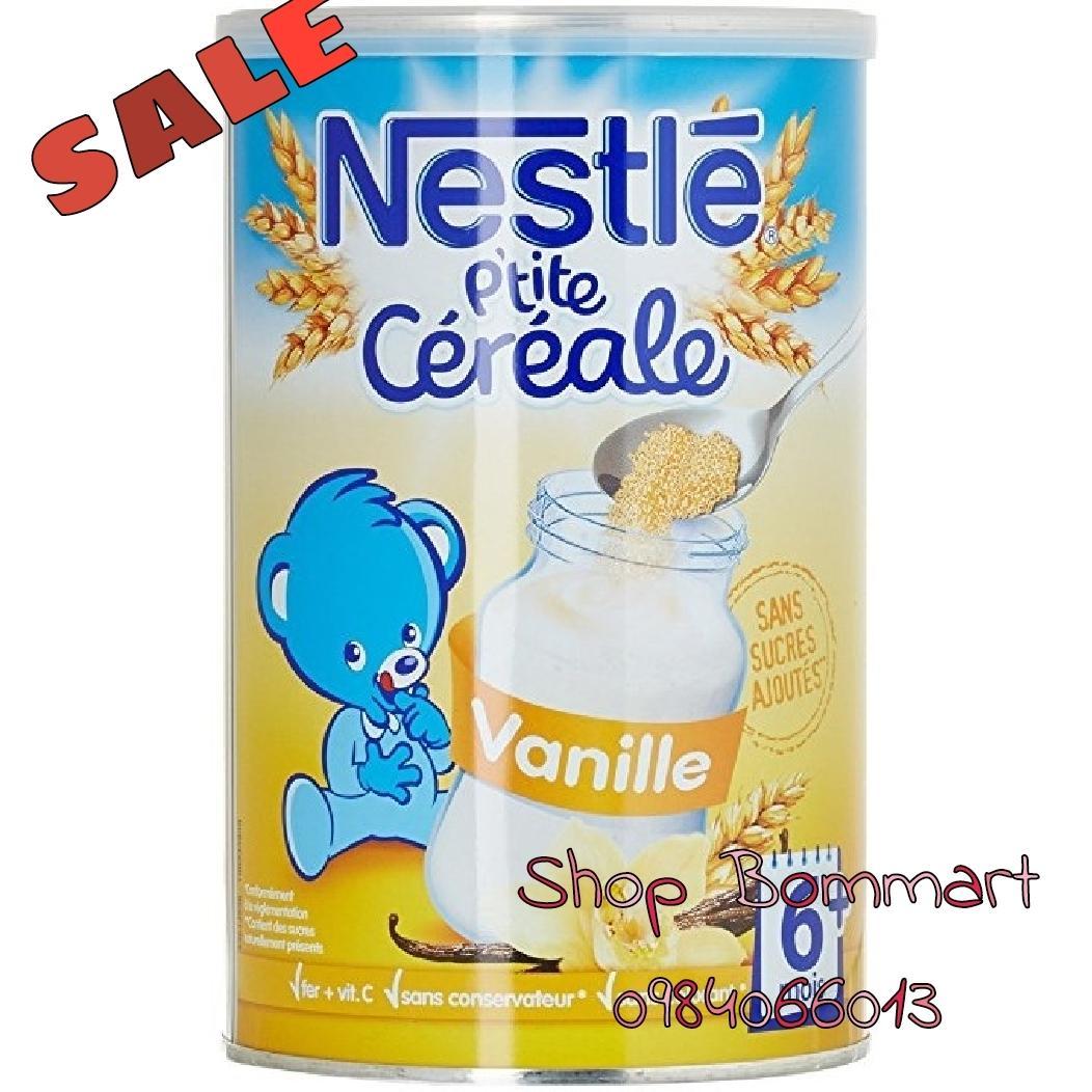 Bột lắc sữa nestle pháp tăng cân vị vani cho bé từ 6 tháng