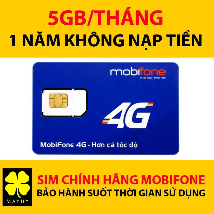 Sim 4G DATA Mobifone F500 Trọn Gói Không Cần Nạp Tiền 1 Năm