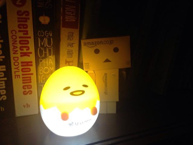 Đèn ngủ tự động sáng khi trời tối hình trứng gà