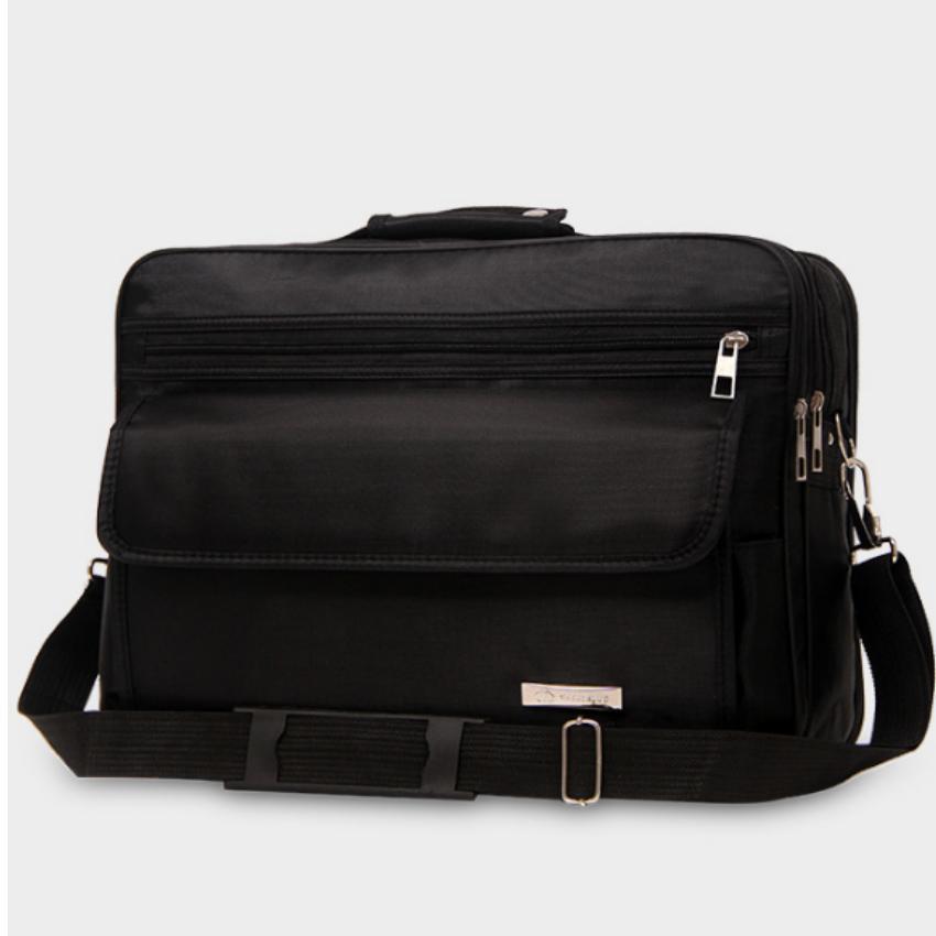 Cặp đựng laptop 14 inch oxford TU8205 (đen) tặng 01 bút bi cao cấp