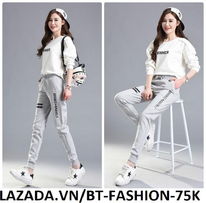 Quần Dài Nữ Thun Phom Rộng Jogger Thể Thao Thời Trang Hàn Quốc - BT Fashion (JO02-ADVANCE)