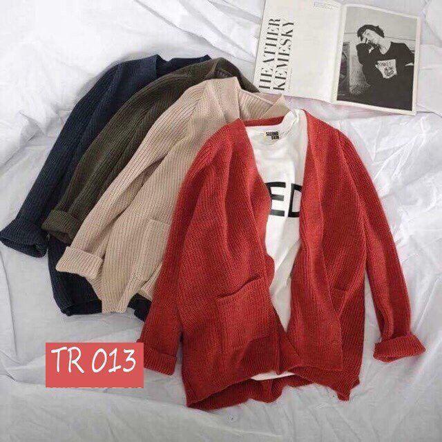 Áo khoác len cardigan 2 túi cực chất
