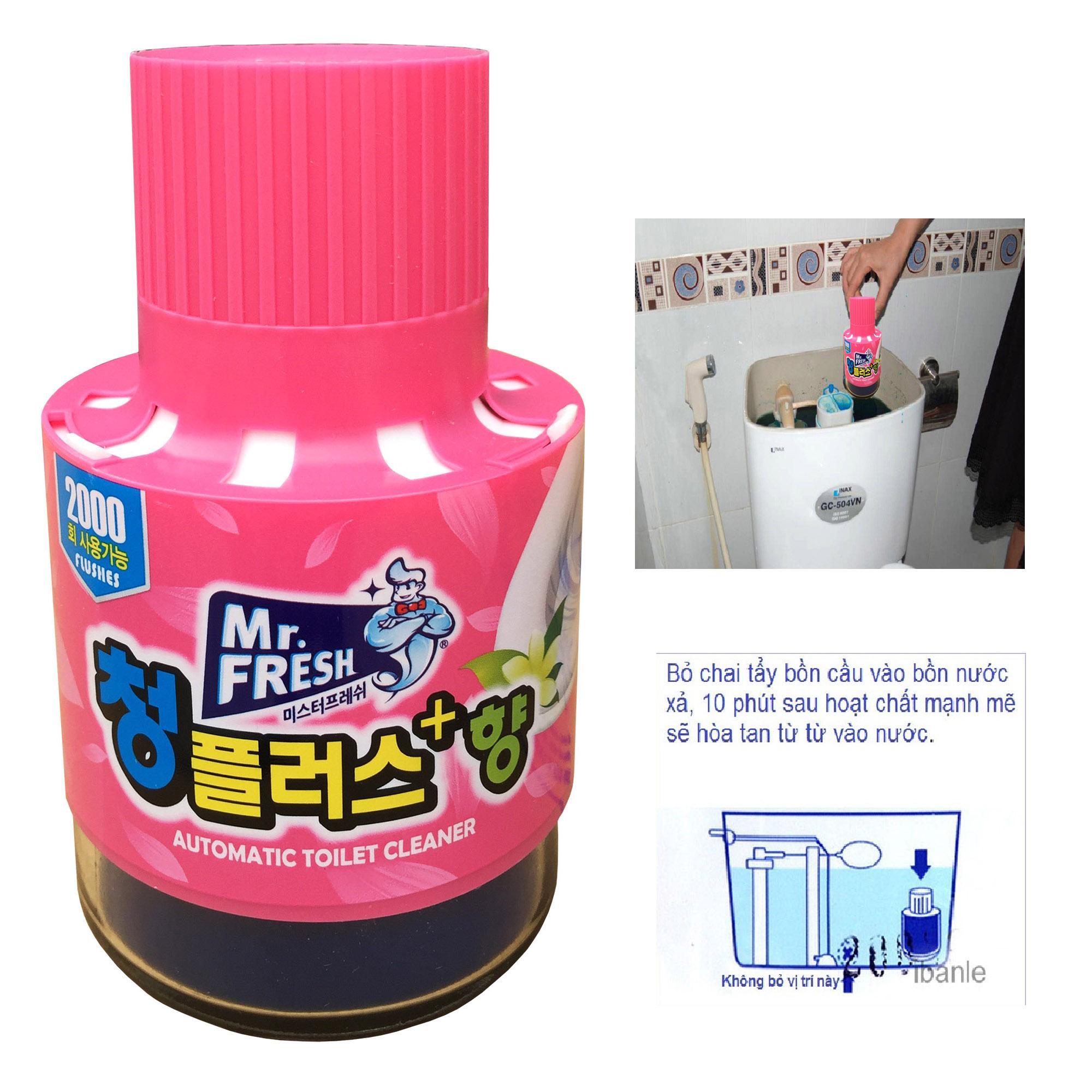 Chai thả bồn cầu tự động làm sạch diệt khuẩn và làm thơm Mr.Fresh Hương Ly TI872