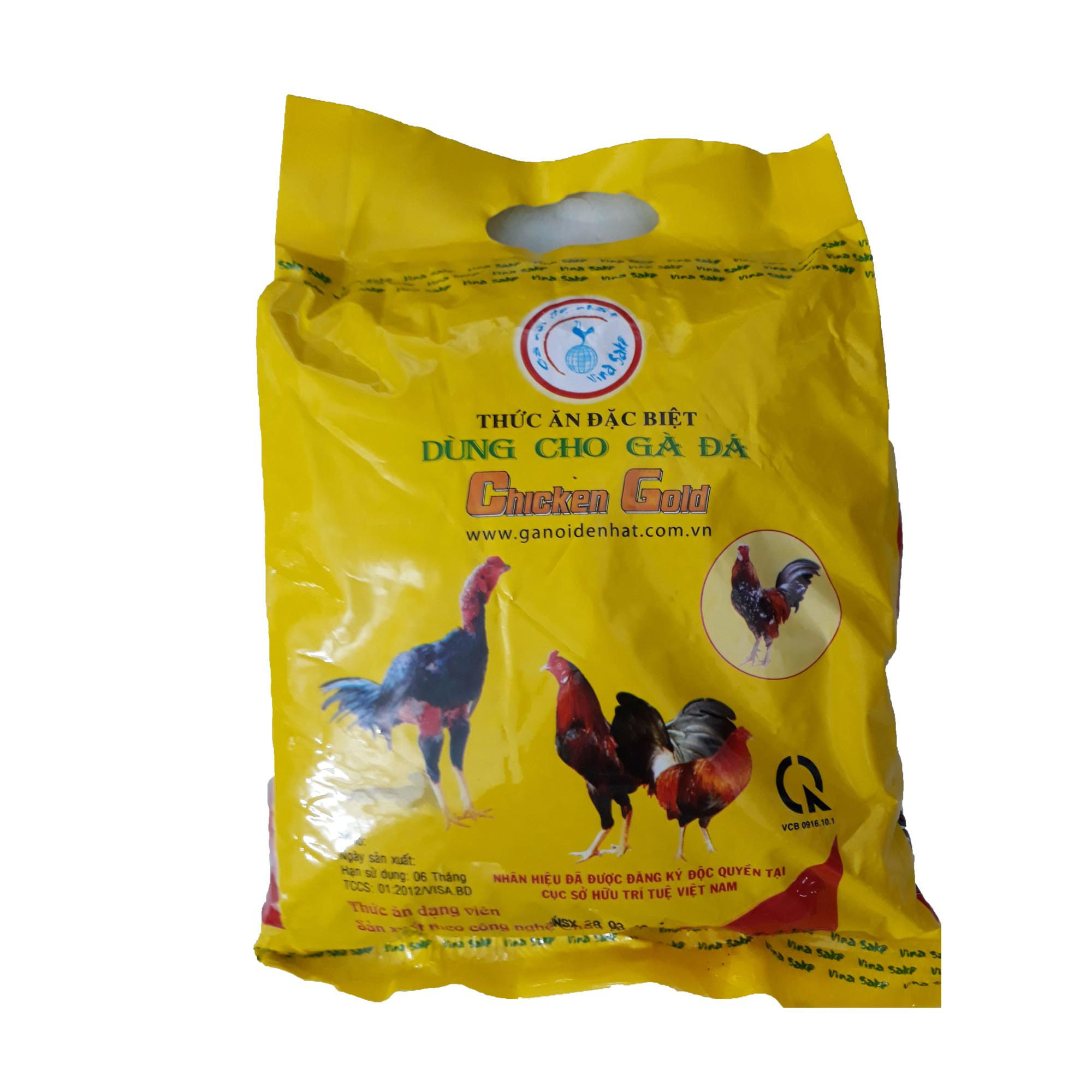 Cám Gà Đá Chicken Gold Nhỏ 1kg - Thức Ăn Gà Cao Cấp Vinasake