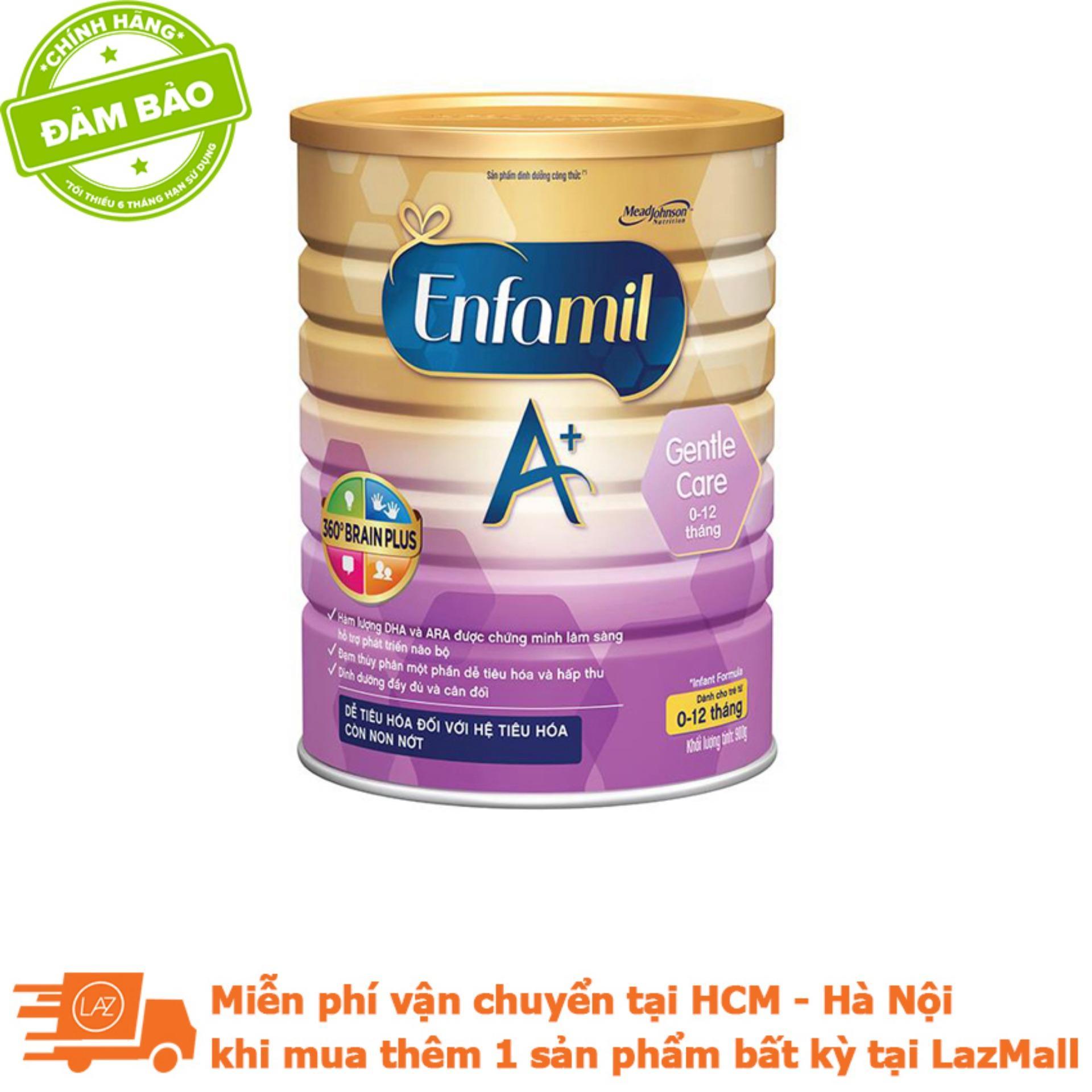 Sữa Enfamil A+ Gentle Care 3 360o Brain Plus 900g