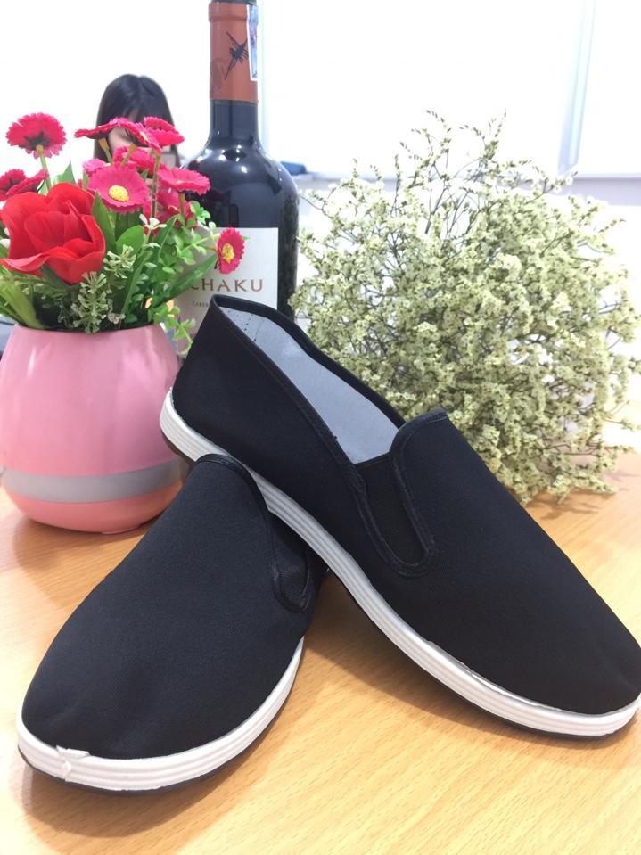 Giày lười nam vải đen Verygood GTTB12+ Tặng kèm 1 thẻ tích điểm Bồ Công Anh Shop