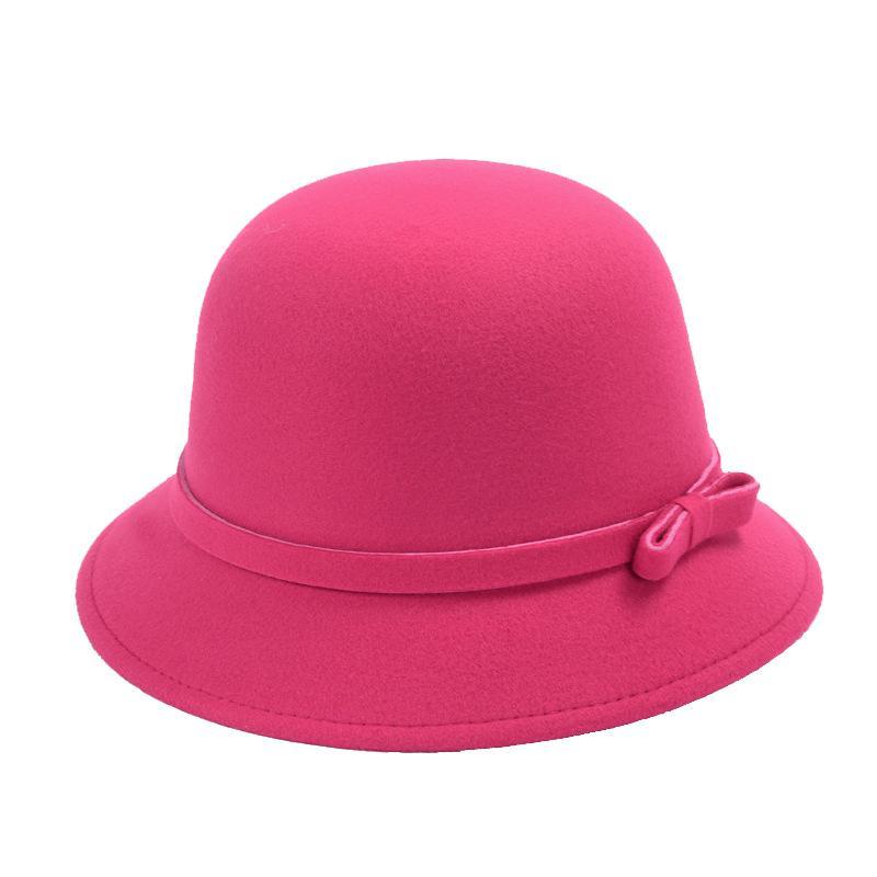 Mũ nón nữ Vành Suôn Thắt Nơ Ngắn cách điệu (Hồng cánh sen)