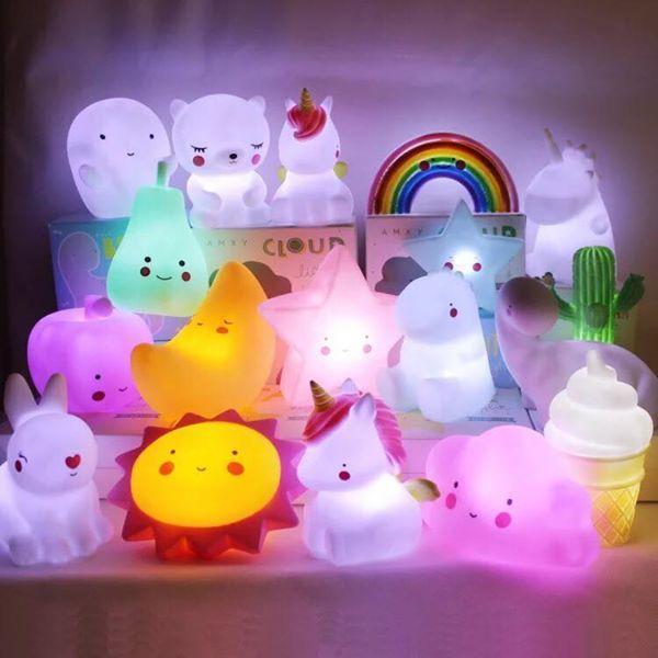 Đèn ngủ silicon nhiều mẫu phát sáng cho bé