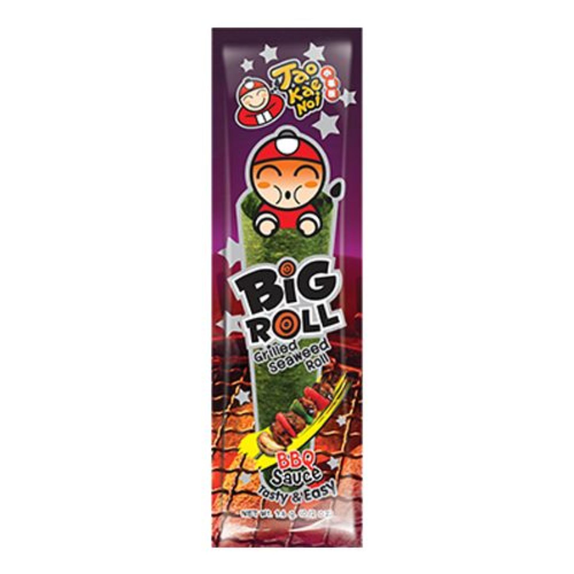 Snack Rong biển Taokaenoi Nướng Big Roll vị Thịt nướng 3,6g