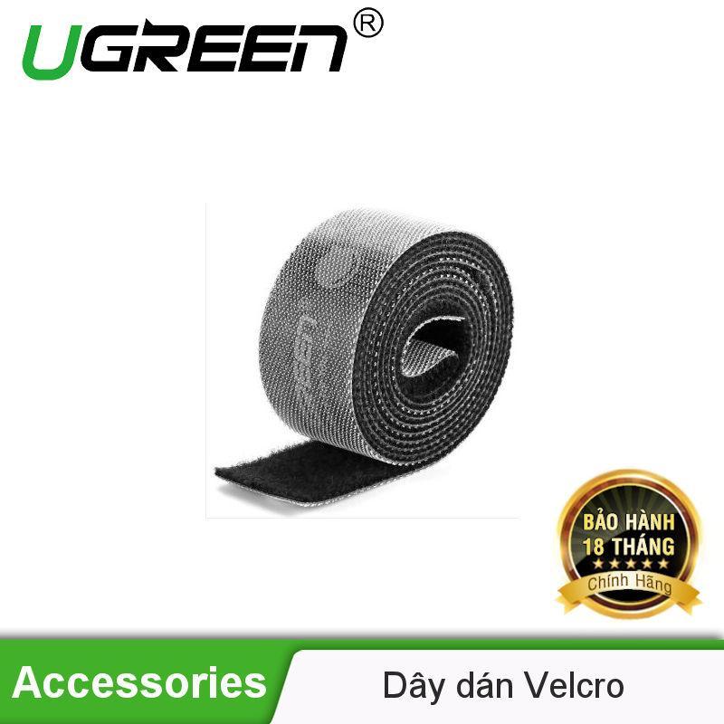 Dây dán Velcro tiện dụng màu xám dài 5M UGREEN 40356 - Hãng phân phối chính thức