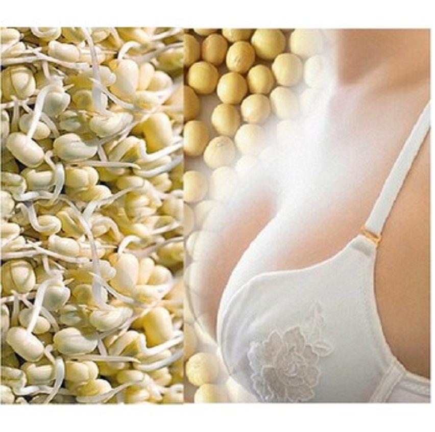 200g Mầm Đậu Nành Nguyên xơ - Uống Tăng Kích Cỡ Vòng 1 Phụ Nữ