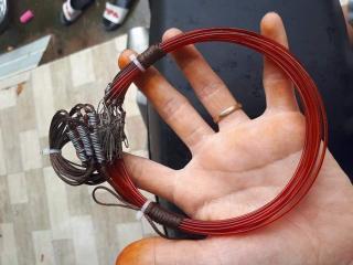 1 bộ thòng dây 20 vòng bẫy cúm núm ( đường kính 13cm ) bẫy gà đồng cước thái, dù siêu bền, khoen đồng hàng thái lan ( 1 bộ 20 vòng dài 2m ) thumbnail