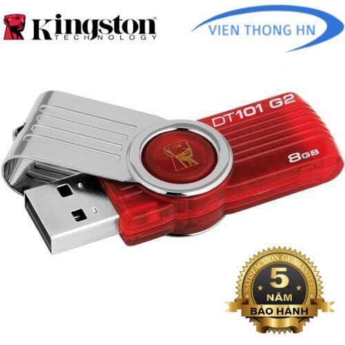 USB 2.0 Kingston DT101 G2 8GB - CÓ NTFS - DUNG LƯỢNG THỰC