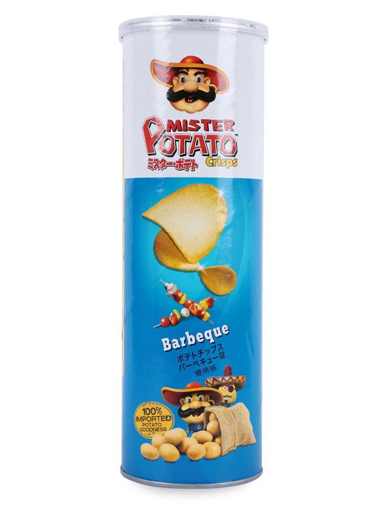 Bánh Snack Khoai Tây Chiên Mister Potato Crisps BBQ Hũ 160G