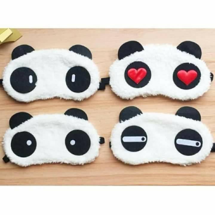 Tấm Bịt Mắt Ngủ Hình Gấu Panda - Màu ngẫu nhiên