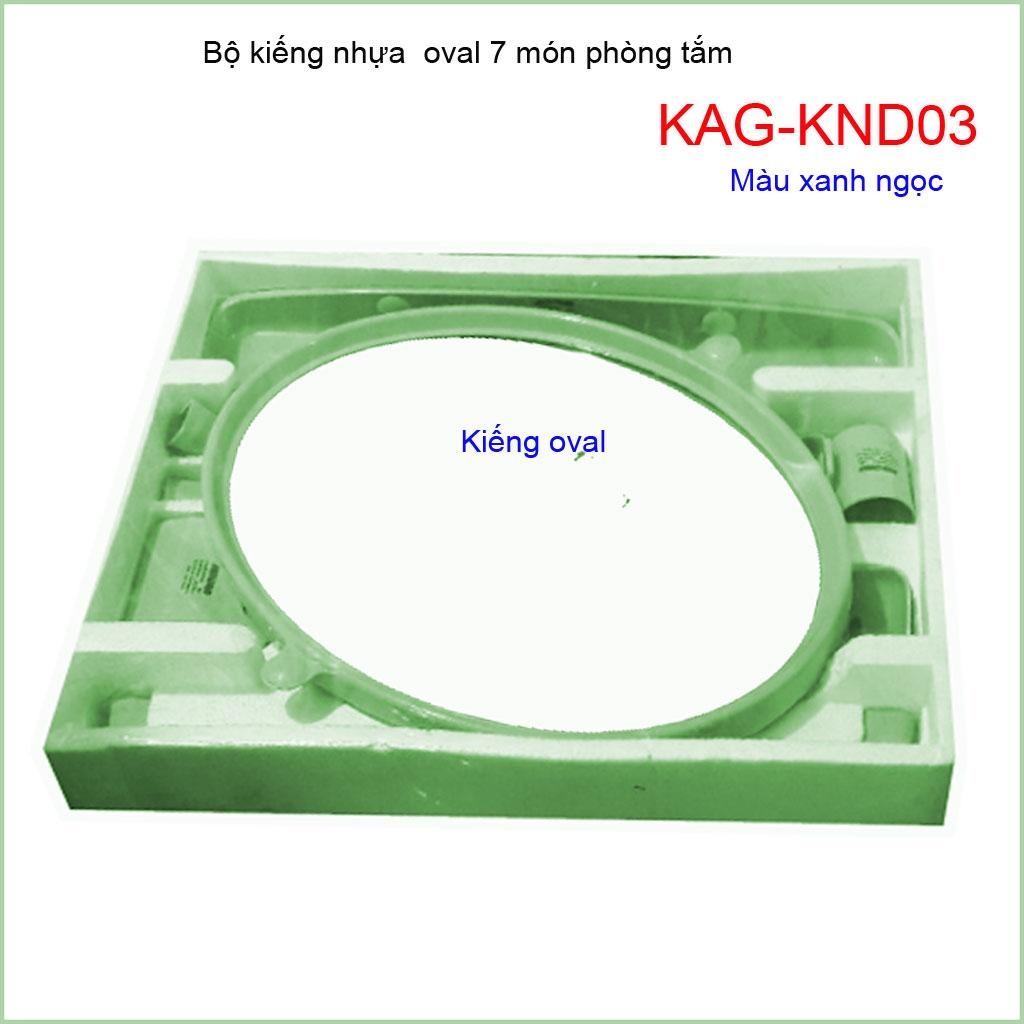 Kiếng nhựa oval 6 món, gương soi 6 món KAG-KND03
