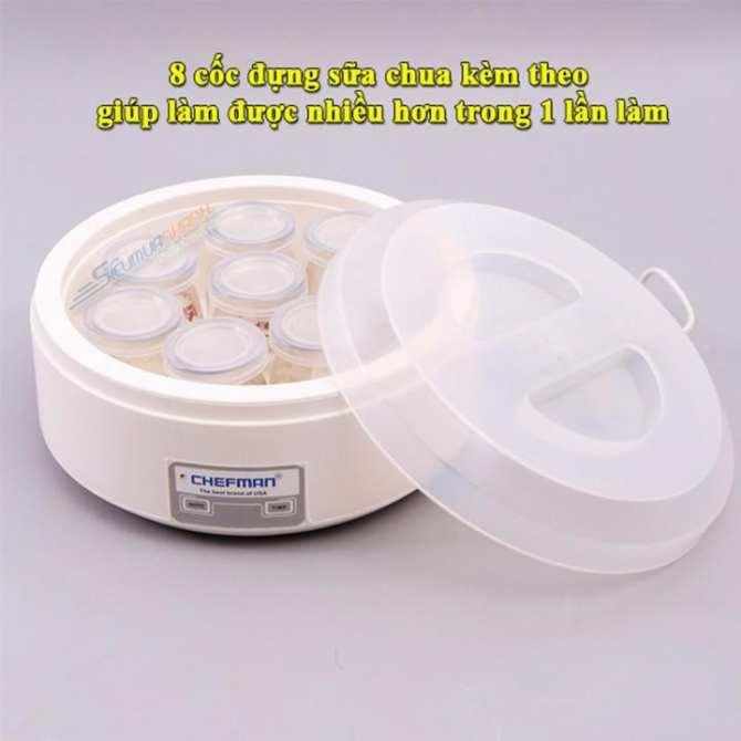 Máy làm sữa chua Cao Cấp Chefman CT-1595 8 cốc thủy tinh, Cách làm sữa chua nha đam đơn giản, Mua hũ làm sữa chua ở đâu, Chất Lượng, Giá Rẻ Hấp Dẫn - Bảo Hành Uy Tín 1 Đổi 1
