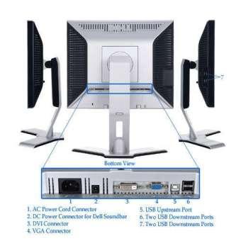 màn hình lcd dell 17 inch ultrasharp 1708fpt vuông, hàng nhập đồng bộ zin all bảo hành 12 tháng