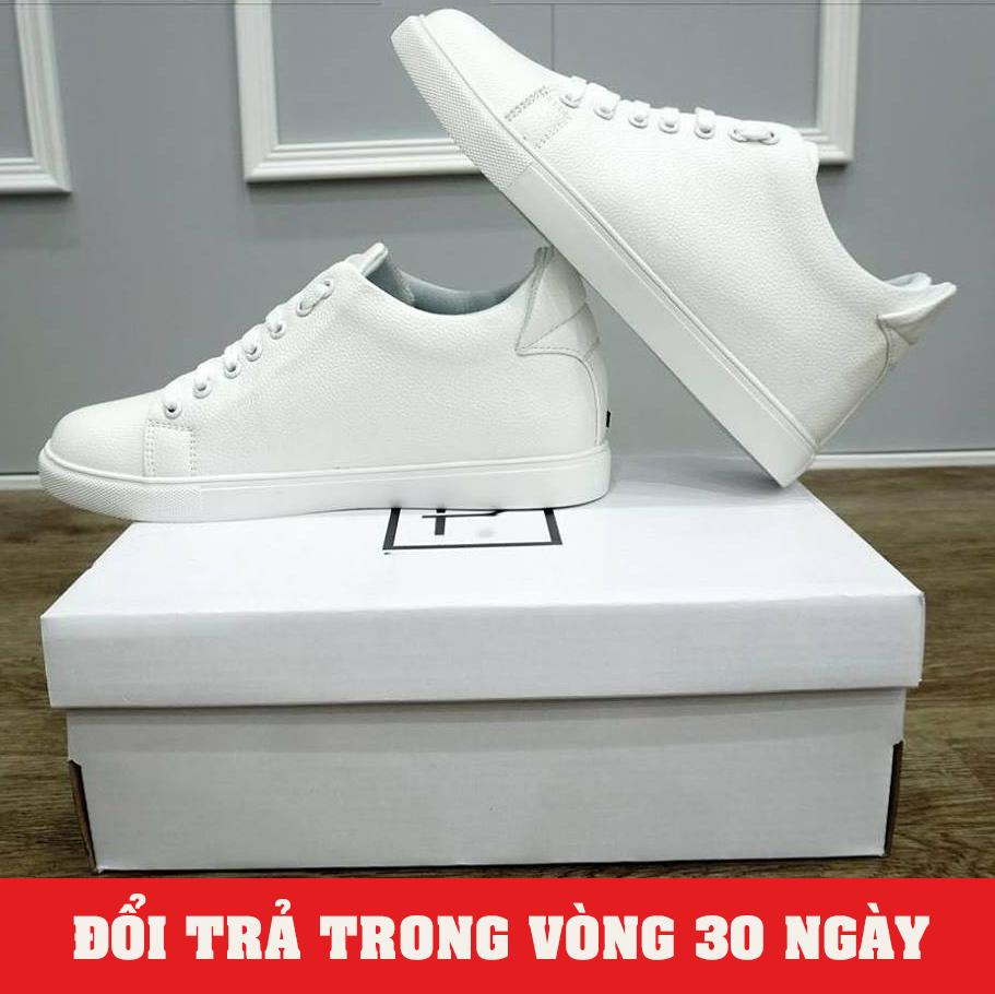 Giày Sneaker Nam Độn Đế 6cm Trắng 2018 (Giá Cực Sốc) - KINGSHOES (KS01)