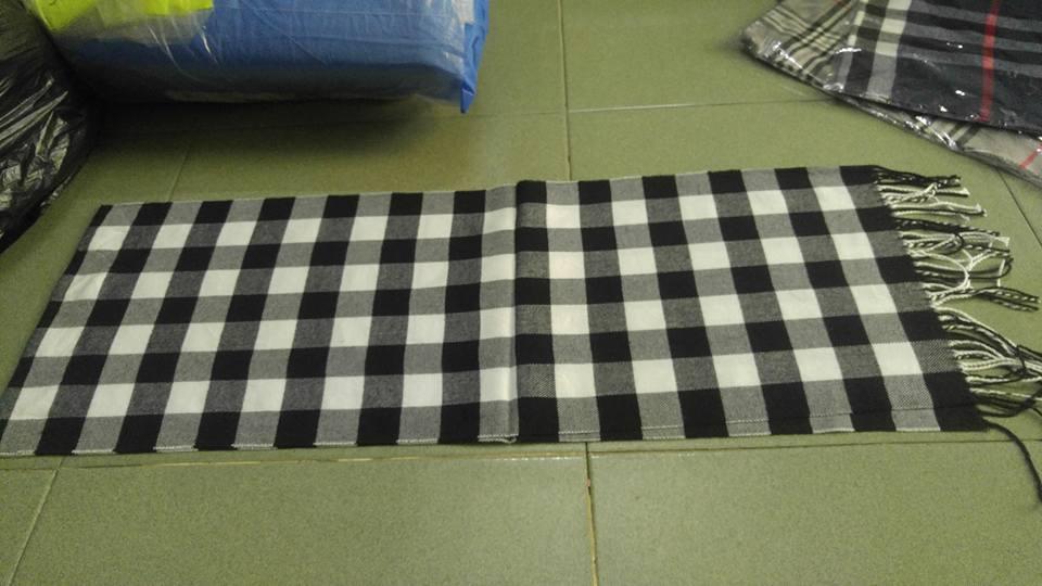 Khăn len - cotton choàng cổ nam nữ 35x175cm