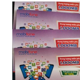 Bộ 5 Thẻ Nạp Data 3G Mobifone 1GB dùng trong 10 ngày thẻ cào Data 4G Mobifone loại mới nhất vô thời hạn thumbnail